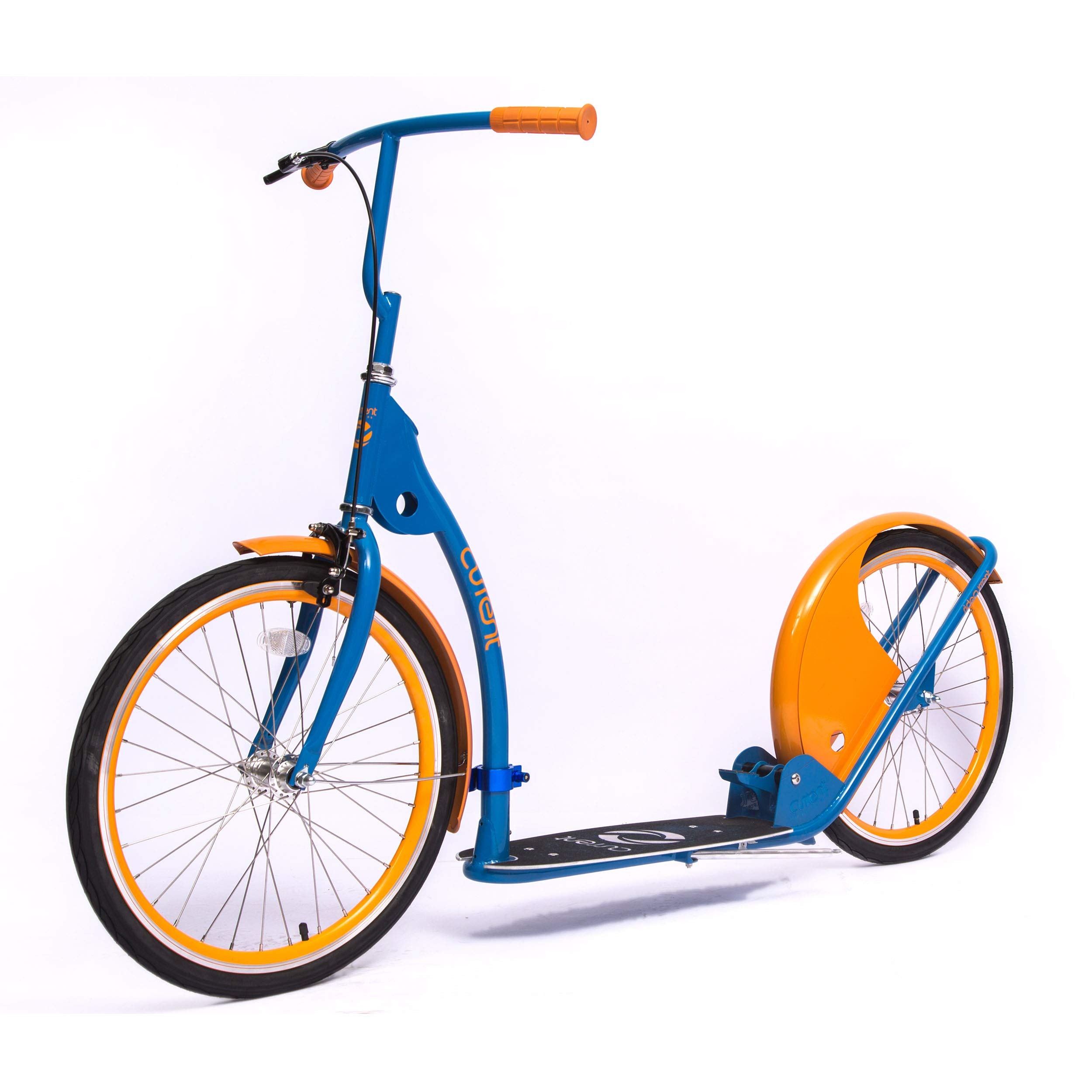 Current Coasters Foldable Kickbike Scooter for Teens and Adults with 20'' Wheels (Indian Blue)