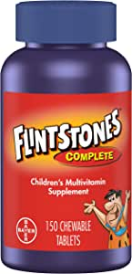 Flintstones Vitamins Chewable Kids Vitamins, Complete Multivitamin for Kids and Toddlers with Iron, Calcium, Vitamin C, Vitamin D & more, 300ct (Pack of 2 150 Count Bottles)