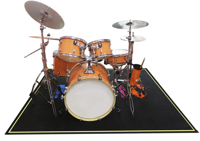 Comme Rug Drum Rug Drum Mat Drum Carpet Dining Living Room Rug, Indoor Outdoor Rugs, 6ftX6.6ft, Black