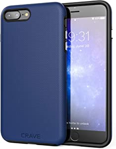 Crave iPhone 8 Plus Case, iPhone 7 Plus Case, Dual Guard Protection Series Case for Apple iPhone 8/7 Plus (5.5 Inch) - Navy
