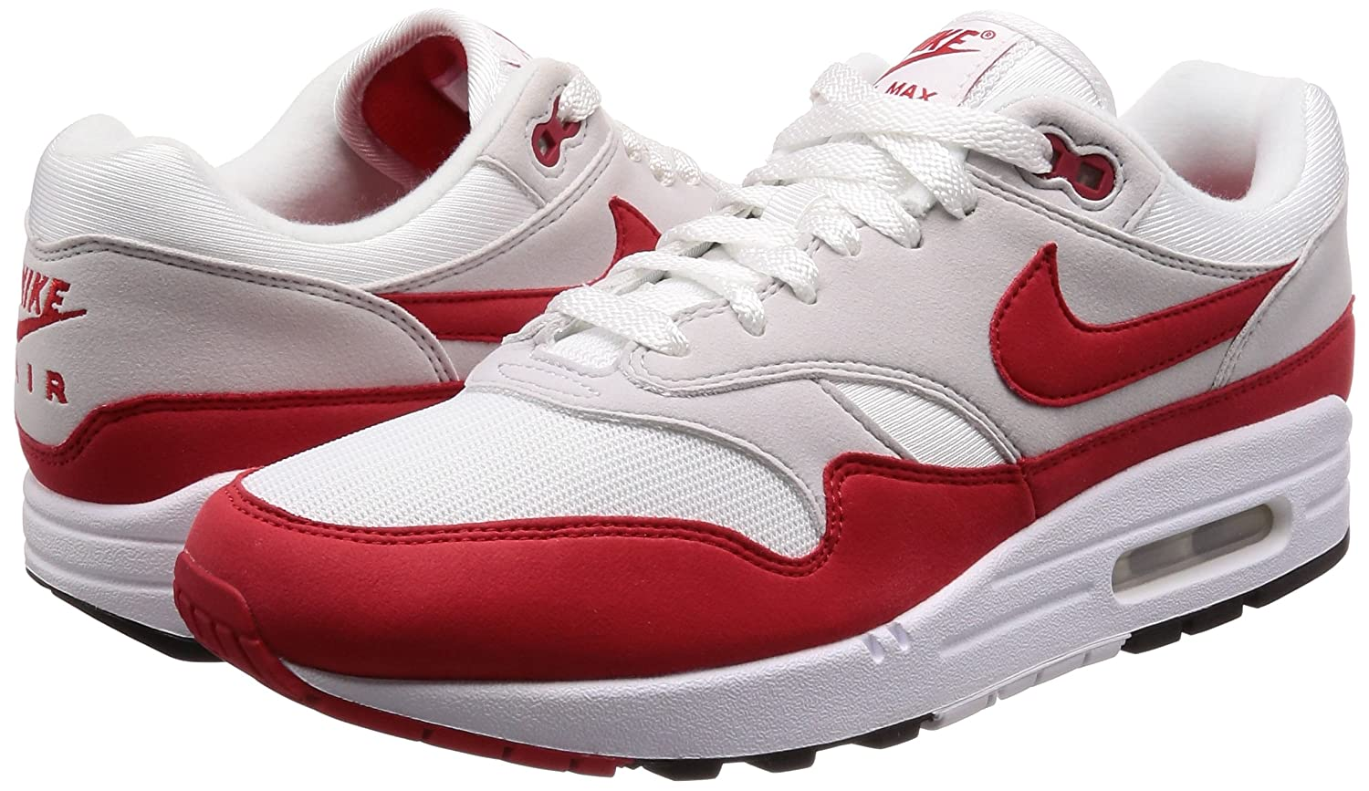daa1c14c9acc8d Nike Air Max 1 Anniversary OG - White University Red Trainer  Amazon.co.uk   Shoes   Bags