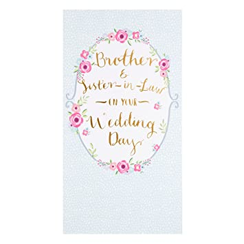 hallmark brother and sister in law wedding card love lots medium