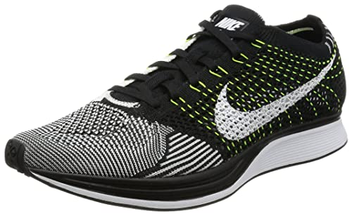 Nike Men's Flyknit Racer Running Shoes, Black/White/White, UK 6 US