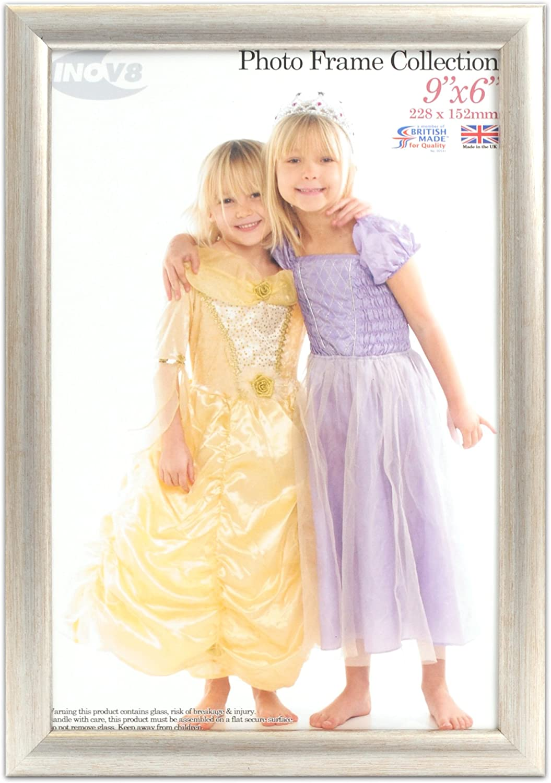 Inov8 Cadre photo 20 x 15 Dimensions 20 x 15 x 1,3 cm Argent Produit traditionnel britannique Lot de 4
