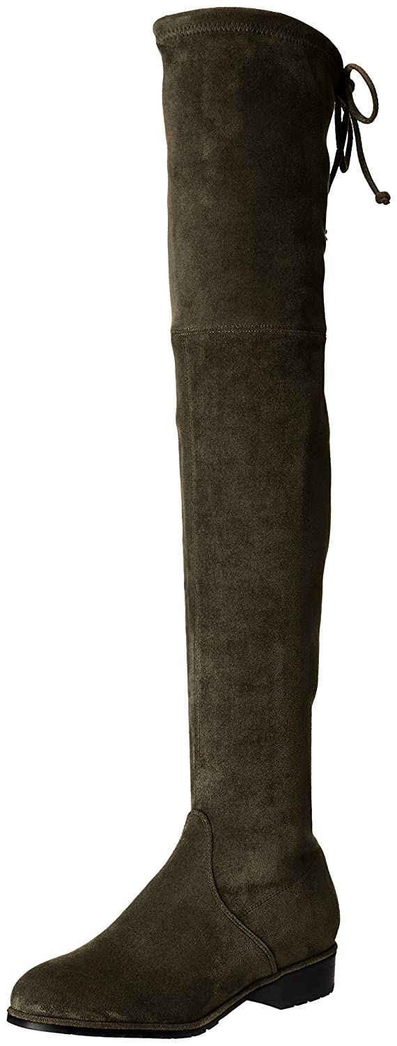 Kaitlyn Pan Women's Microsuede Flat Heel Over The Knee Thigh High Boots B01KMNBYOK 10US/ 41EU/ 43CN|Army Green