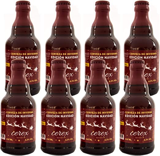 Cerveza Cerex Edición Navidad   Pack 8 botellas de 33 cl   Cerveza ...