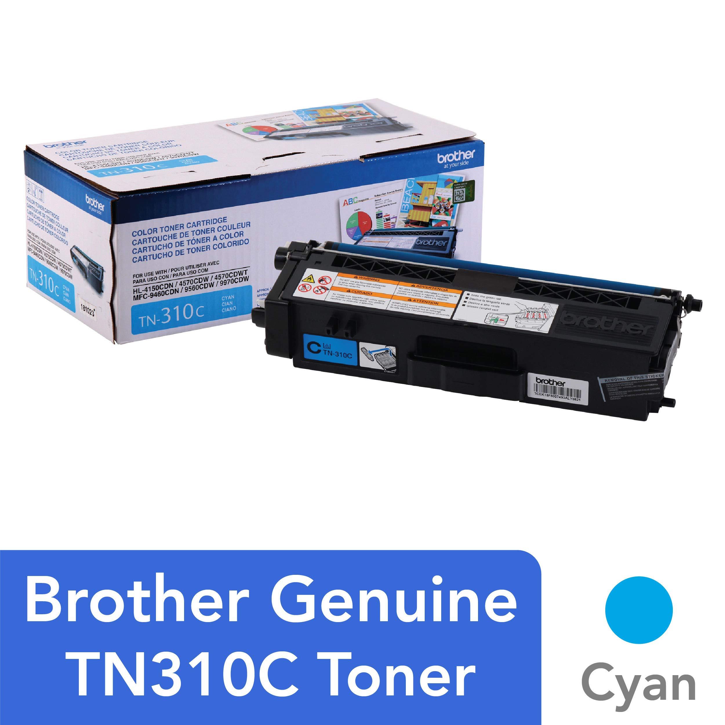 Toner Original Brother Normal Capacidad Tn310c Cyan Hasta 1,500 Paginas Tn310