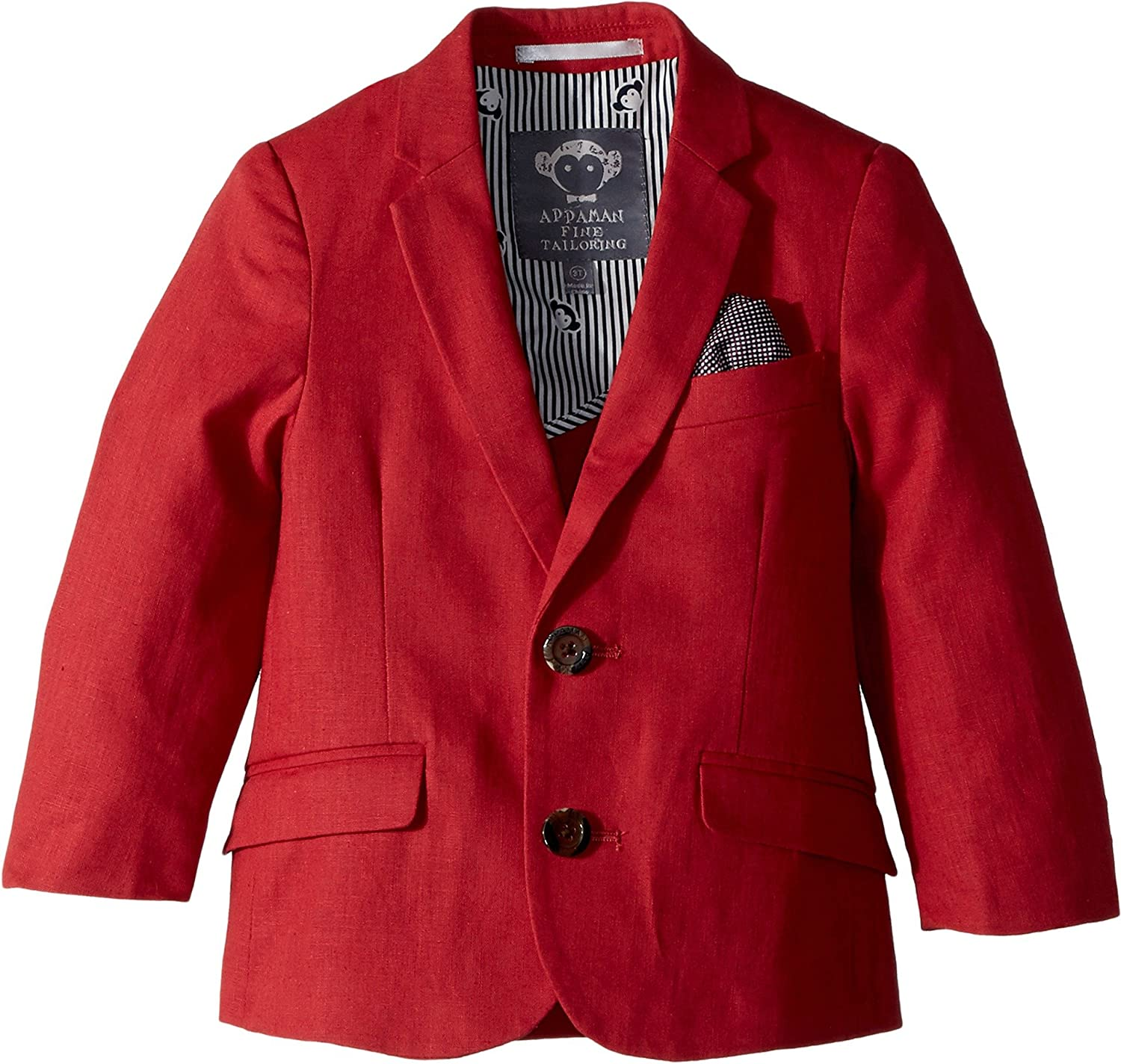 Appaman Kids Mens Structured Blazer with Pocket Detail (Toddler/Little Kids/Big Kids)