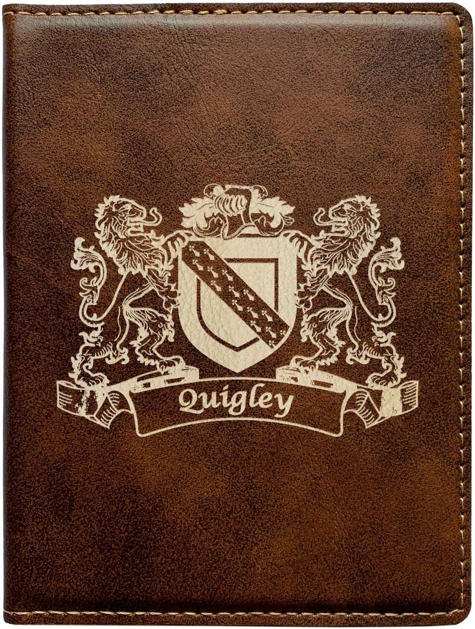 Quigley Irish Coat of Arms Leather Passport Wallet