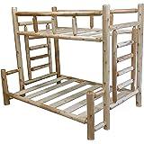 Original Twin over Full Double Rustic Cedar Log Bunk Bed