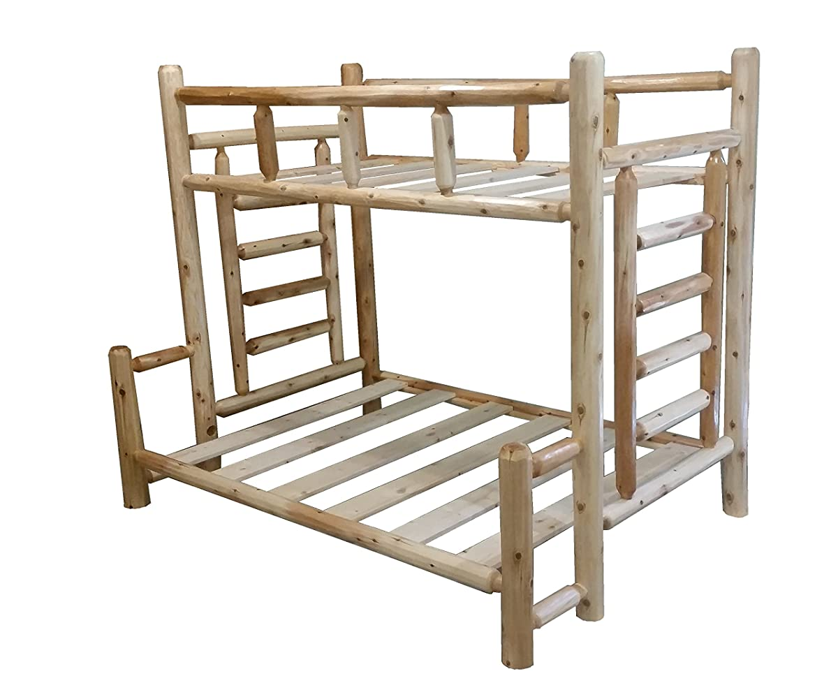 Michigan Rustics #1 Selling Original Twin Over Full Double Rustic Cedar Log Bunk, Video Assembly instructionsBed