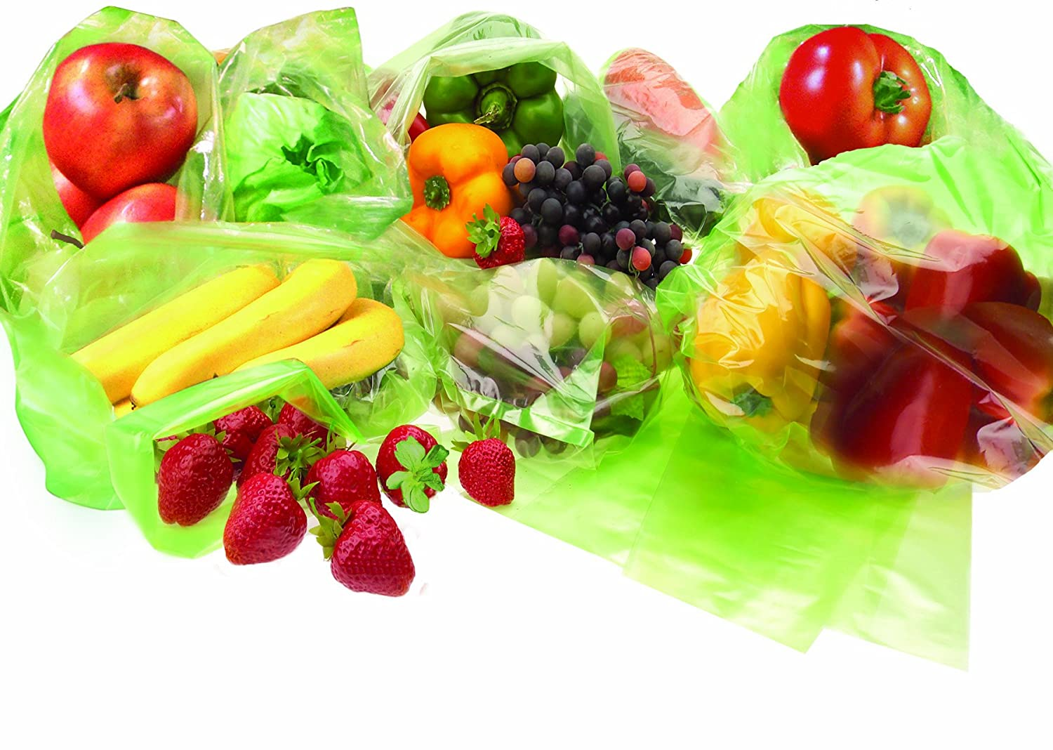 20 Storage Vegetable Fruit and Produce Green fresh Bags Reusable Life