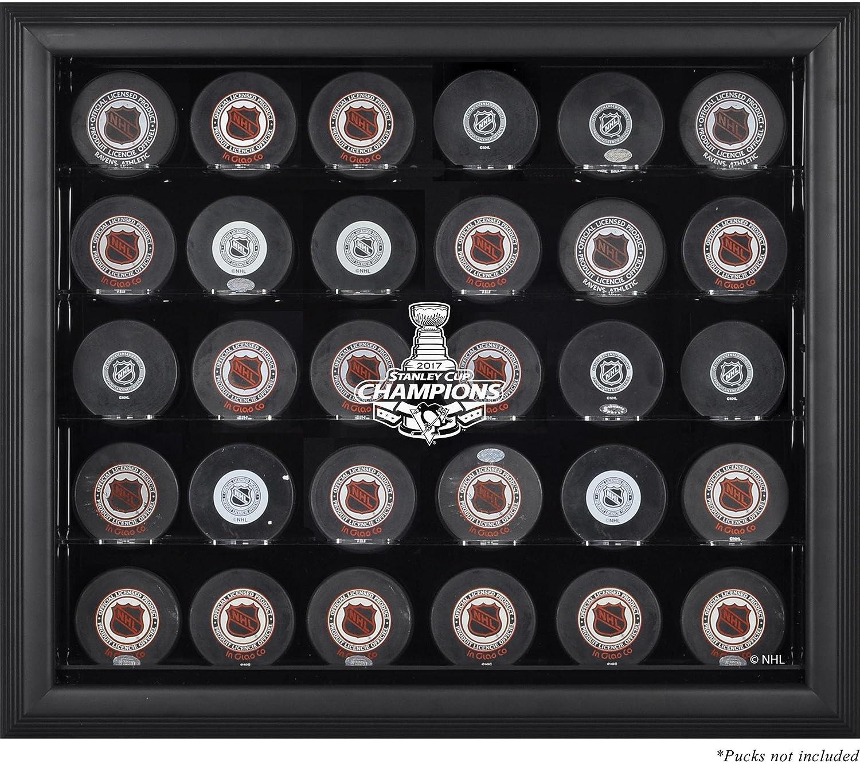 Pittsburgh Penguins 2017 Stanley Cup Championsブラックフレーム入り30-puckロゴ表示ケース – Fanatics本物認定 B071JPWHBB