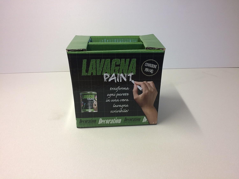 Kit completo Lavagna Paint - Pittura Effetto Lavagna - per 6 Mq comprensivo di gessetti e cancellino. Decoration