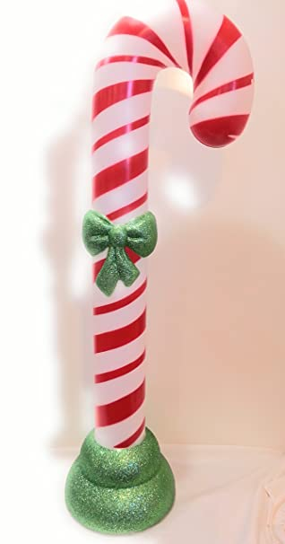 42 lighted christmas candy cane blow mold plastic yard decoration