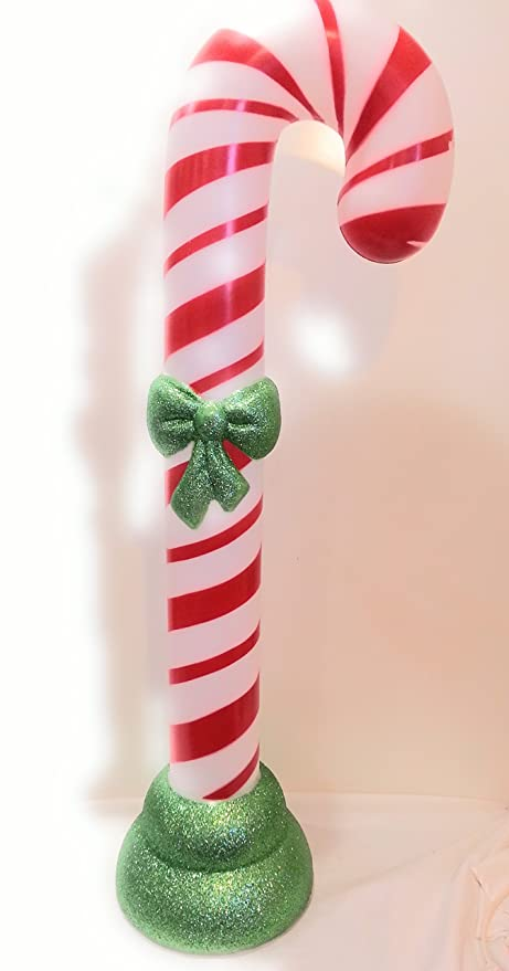 Blow Mold Christmas Yard Decorations.Holiday Living 42 Lighted Christmas Candy Cane Blow Mold Plastic Yard Decoration
