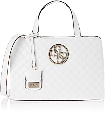 98aa71949b Guess Gioia, Sacs portés épaule femme, Blanc (White/Whi), 30x20x14 ...