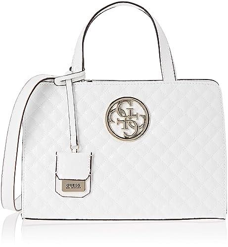 45c546d40 Guess - Gioia, Shoppers y bolsos de hombro Mujer, Blanco (White/Whi ...