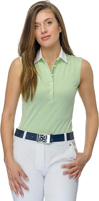 JELFY Evelina/B Polo de Golf para Mujer, sin Mangas, 100% algodón ...