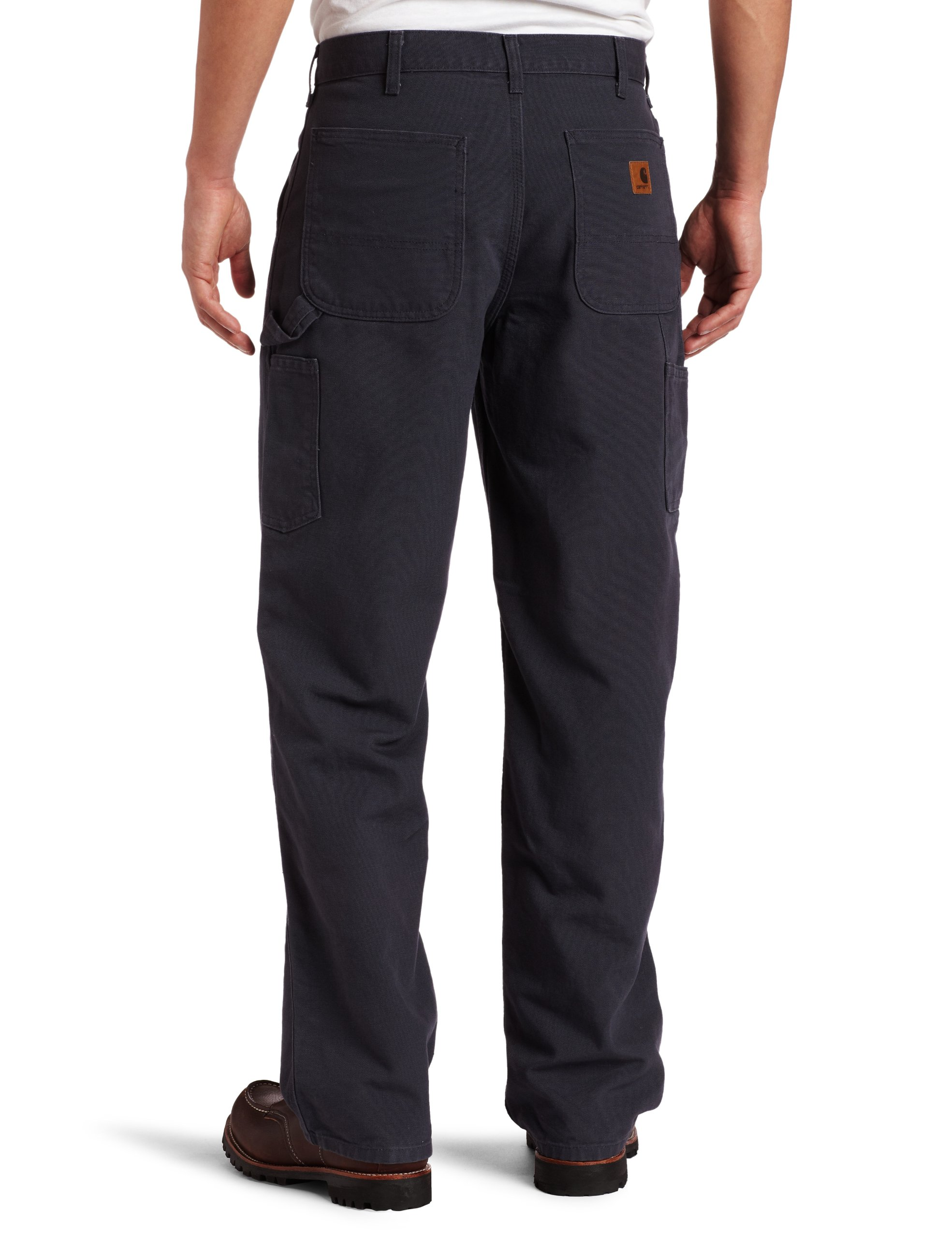 Carhartt Men's Washed Duck Work Dungaree Pant,Petrol Blue,44W x 30L by Carhartt (Image #2)