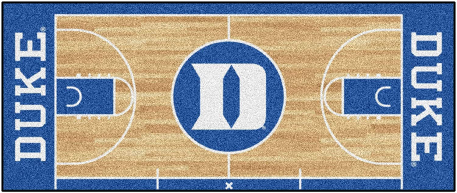 Fanmats 8171 Ncaa Duke University Blue Devils Nylon Face Basketball Court Runner Team Color 30 X72 Sports Fan Area Rugs Sports Outdoors