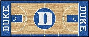 """FANMATS 8171 NCAA Duke University Blue Devils Nylon Face Basketball Court Runner , Team Color , 30""""x72"""""""