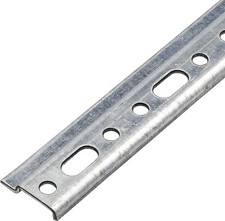 Diam/ètre 6 mm Acier Galvanis/é Porte-/étag/ère /à Visser et Accrocher Mini Rail de Suspension pour Meuble Lot de 12 Gedotec Plaques de Support Mural pour Armoire Suspendue 60x48x2 mm
