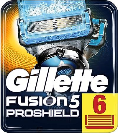 Cuchillas de afeitar para hombres Gillette Fusion ProshieldChill. unidades