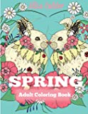 Spring Adult Coloring Book: Adult Coloring Book Celebrating Springtime, Flowers, and Nature (Coloring Books for Adults)