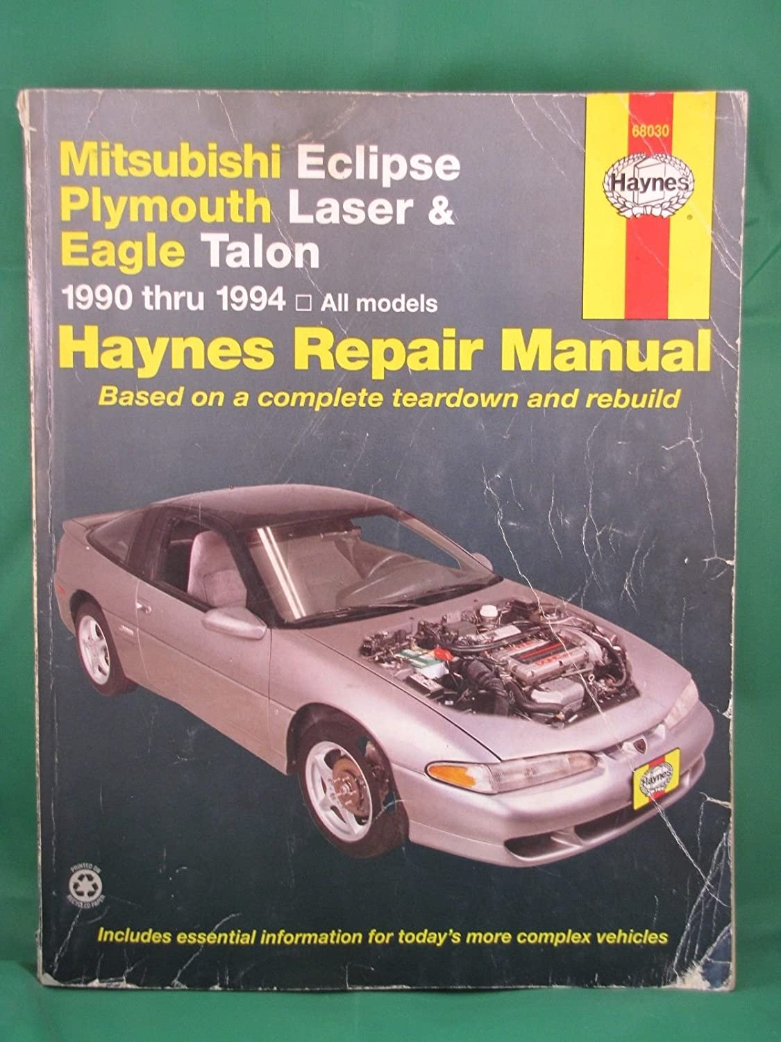 Amazon.com : 1990-1994 Haynes Repair Manual - Mitsubishi Eclipse/Plymouth  Laser/Eagle Talon : Everything Else
