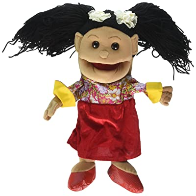 "Sunny Toys 14"" Hispanic Girl in Dress Glove Puppet: Toys & Games"