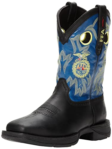 Durango Men's Rebel FFA DB024 Western Boot,Black/Blue,10.5 ...