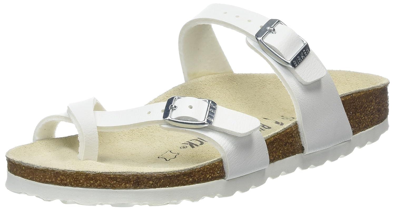 Birkenstock Mayari Birko-Flor, Sandalias de Dedo Mujer 43 EU|Blanco (Wei)