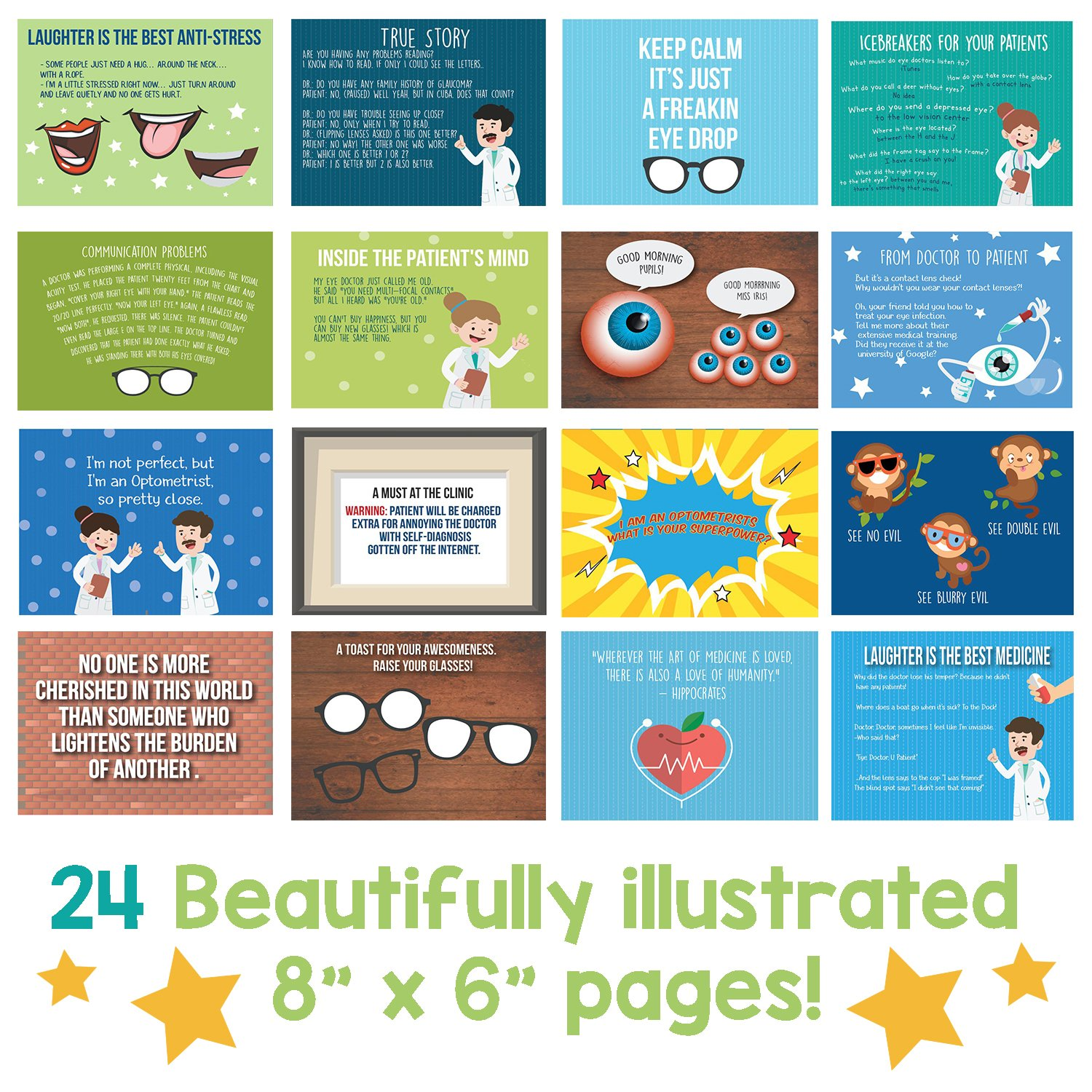 OPTOMETRIST GIFTS - Personalizable Humor Booklet