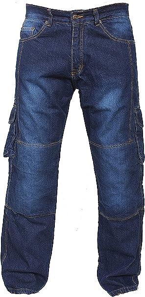 MOTO Jeans Motocicletta Pantaloni in Denim con fodera in Kevlar