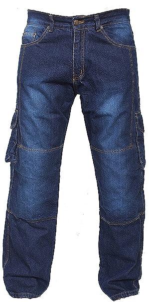 Newfacelook Denim Motocicleta Moto Armadura Cargo Jeans Pantalones Con Aramid Protección Guarnición