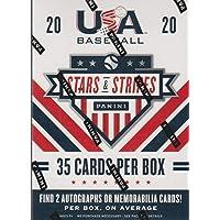 $29 » 2020 Panini USA Stars & Stripes Baseball BLASTER box (35 cards, TWO Memorabilia and/or…
