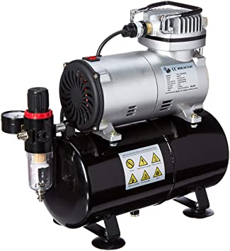 Master Airbrush NEW Quiet TANK COMPRESSOR-(FREE) AIR HOSE and Now a (FREE)  How to Airbrush Training Book to Get You Started, Published Exclusively By