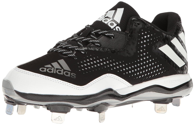 adidas レディース PowerAlley 4 W B01C9OXD4E 11 B(M) US Black/White/Metallic/Silver Black/White/Metallic/Silver 11 B(M) US
