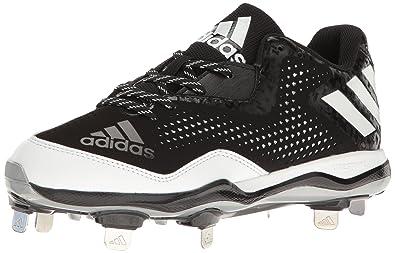 half off b1b0e 0174b adidas Mens Freak X Carbon Mid Softball Shoe BlackWhiteMetallicSilver (