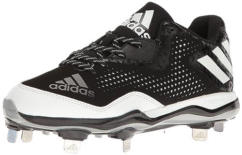 watch 89f9b 4f7c4 adidas Men s Freak X Carbon Mid Softball Shoe, Black White Metallic Silver