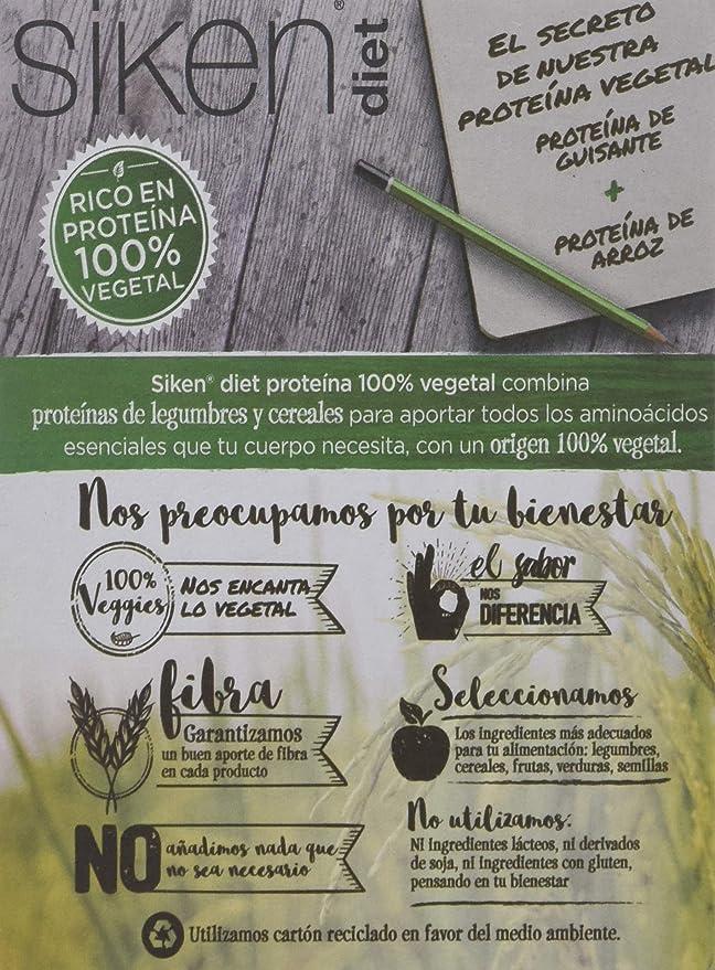 Siken Diet Proteína Vegetal - Barrita de Coco Limón de 36 g. 140 Kcal/barrita. Caja con 4 unidades (10849)