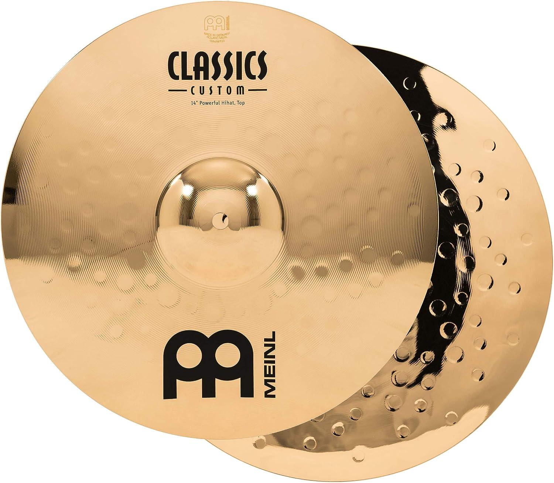 CC14PH-B Classics Custom Brilliant Hi Hat Cymbal Pair Made in Germany Meinl 14 Powerful Hihat 2-YEAR WARRANTY