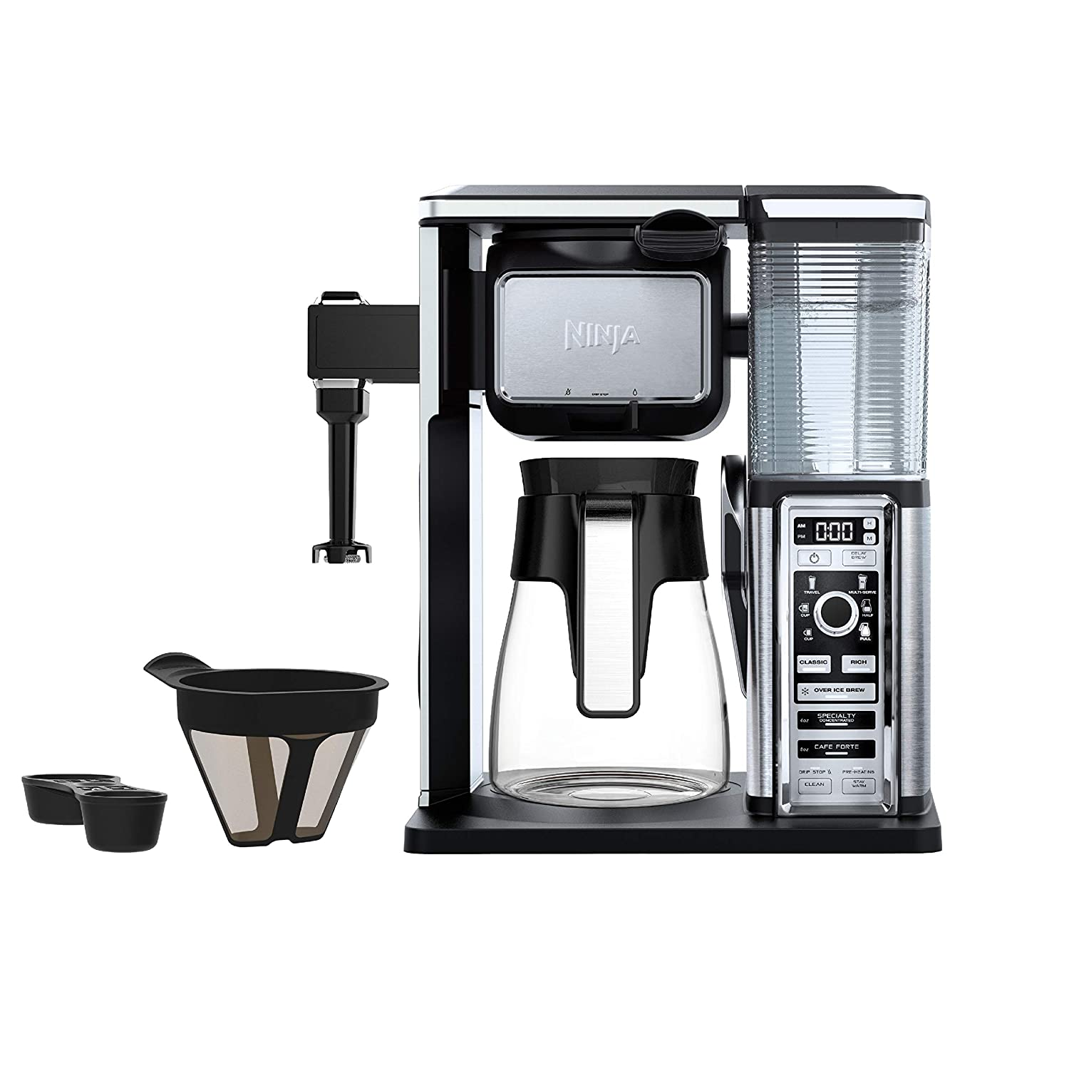 Ninja CF091 Coffee Makers 50 oz. Silver