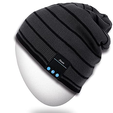 02c230ed92d Amazon.com  Rotibox Bluetooth Beanie Hat