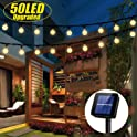 Sylhlw 50 LED 23Ft Solar Waterproof Fairy Outdoor String Lights