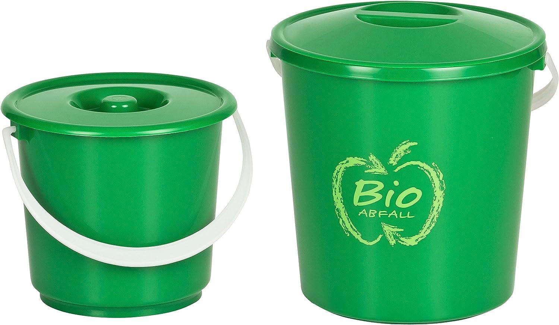 Kigima Bioeimer Biom/ülleimer Komposteimer 2er Set 2,7l /& 5l