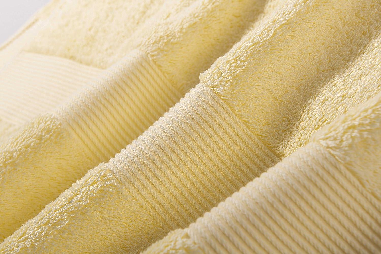 36x78cm,170g, Amarillo lvse 100/% Egipcio de algod/ón de Fibra Larga,la Mejor Toalla de Mano Paquete de 1 Pieza ,606GSM,Resistente a la decoloraci/ón esponjosa,Suave y Absorbente para Barra y ba/ño