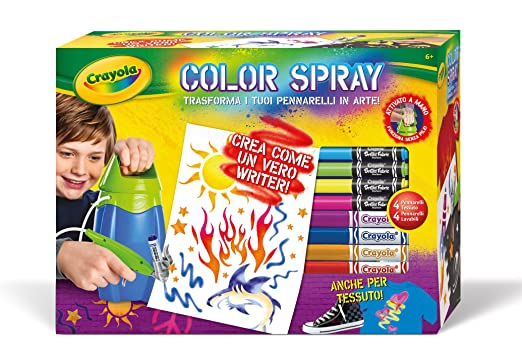 118 opinioni per Crayola 04-8733- Color Spray Aerografo
