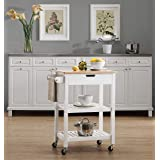 2L Lifestyle Aviator Kitchen Cart, White